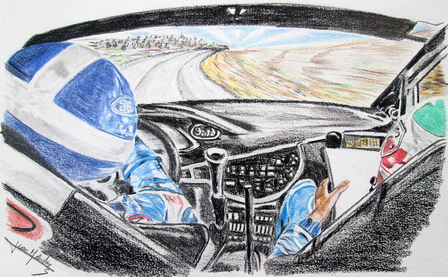 Colin Mcrae Painting - On Board Colin Mcrae by Juan Mendez