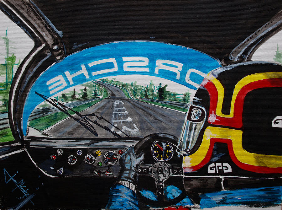 Stefan Bellof Painting - On Board Stefan Belloff Nurburgring Record by Juan Mendez