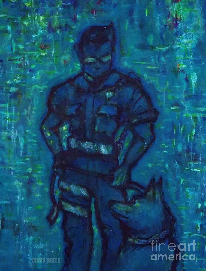 K9 Unit Painting - On Command I I by Craig Green