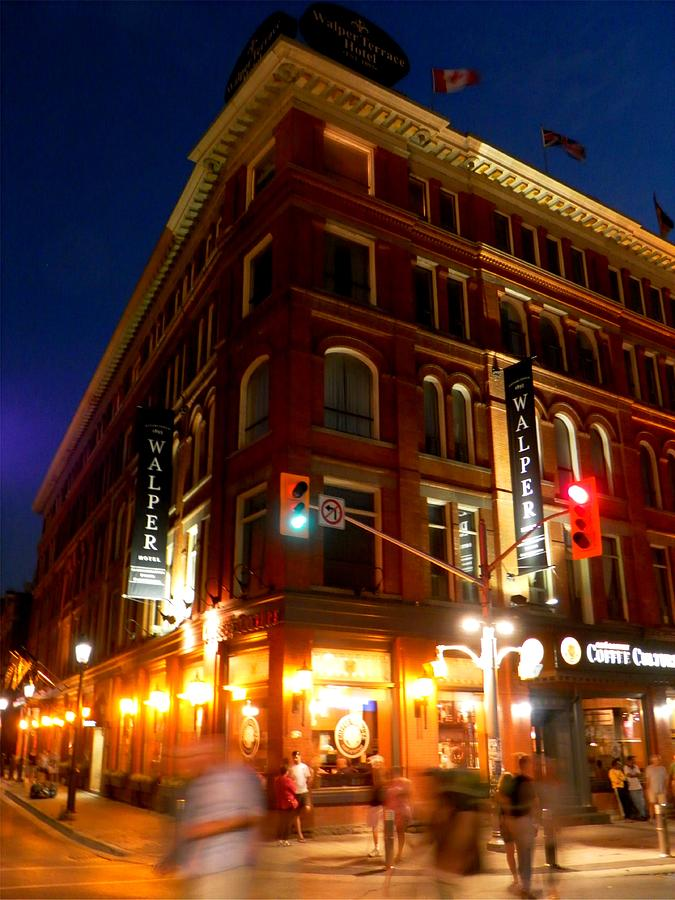 On Corner At The Walper Terrace Hotel Photograph By