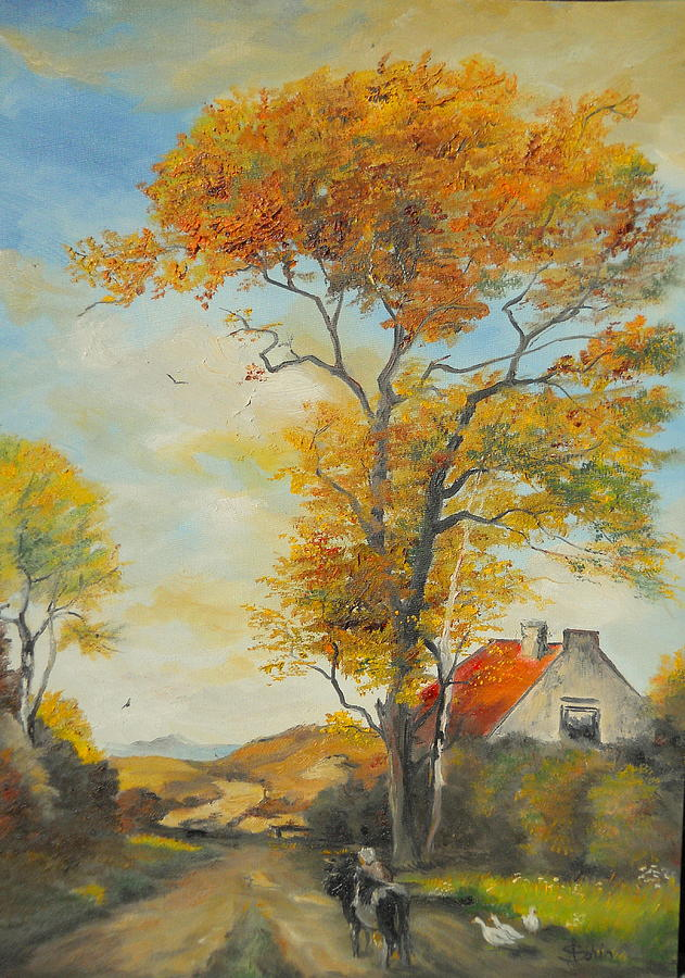 On Country Road Painting