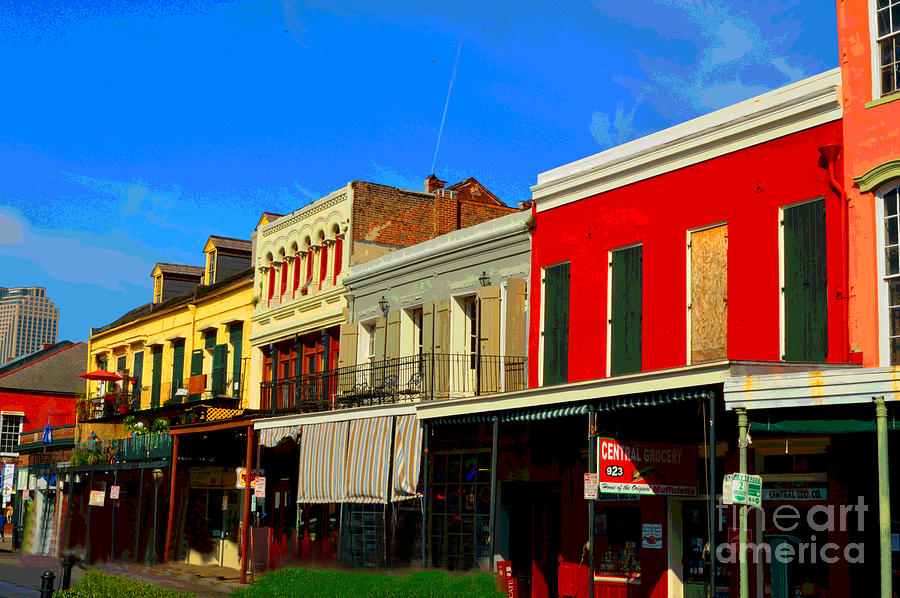 New Orleans Digital Art - On Decatur Street by Alys Caviness-Gober