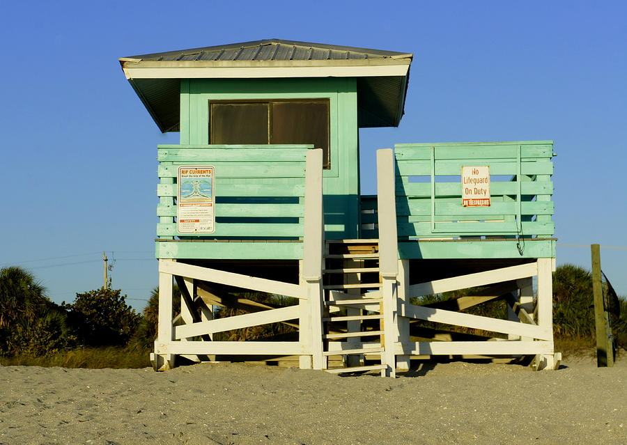 Venice Beach Photograph - On Duty by Laurie Perry