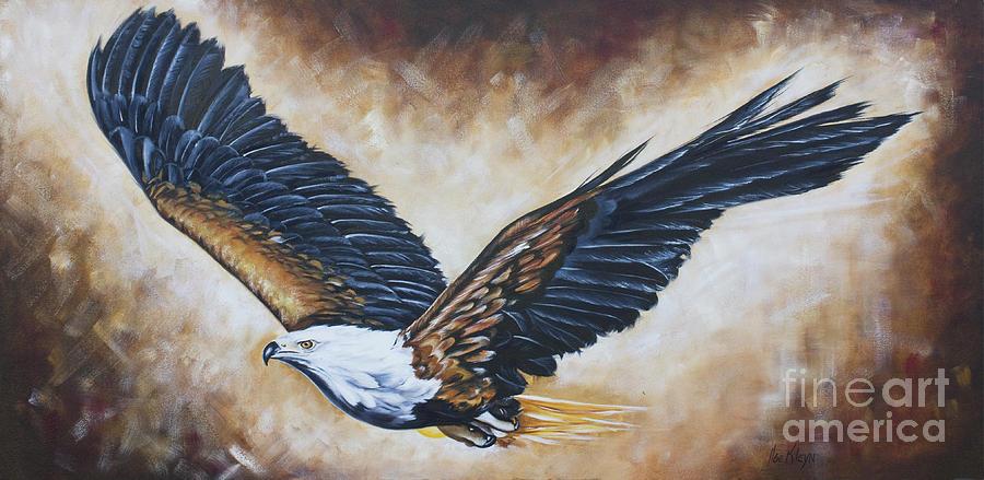 Eagle Painting - On Eagles Wings by Ilse Kleyn