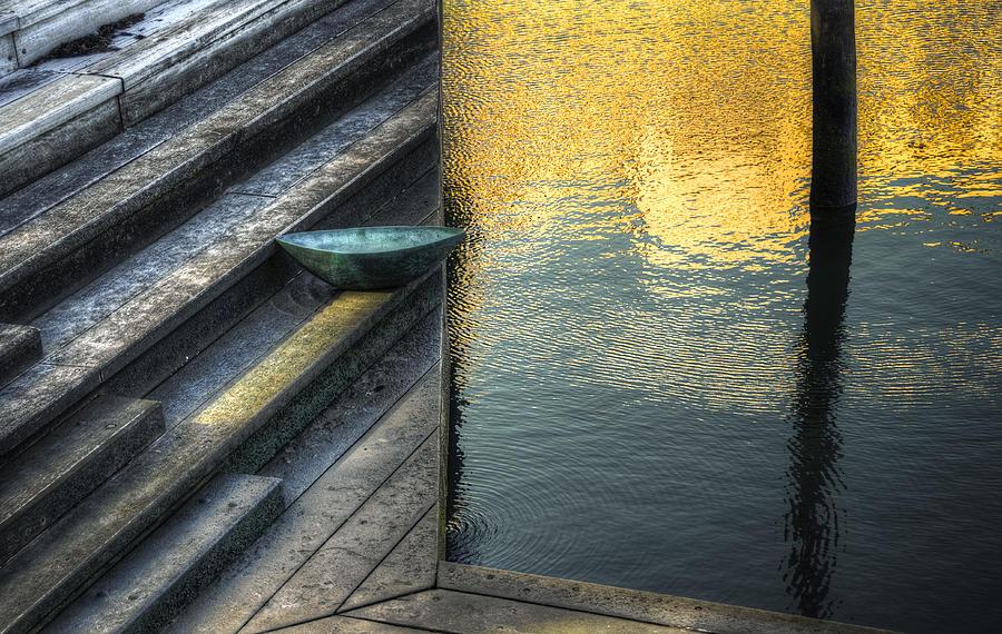 Marina Photograph - On Golden Pond by Wayne Sherriff