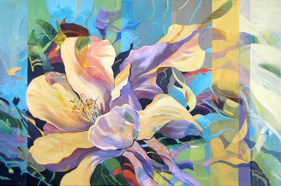 Floral Painting - On Gossamer Wings by Rae Andrews