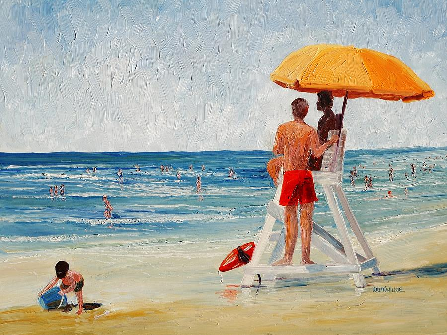 Beach Painting - On Guard by Keith Wilkie
