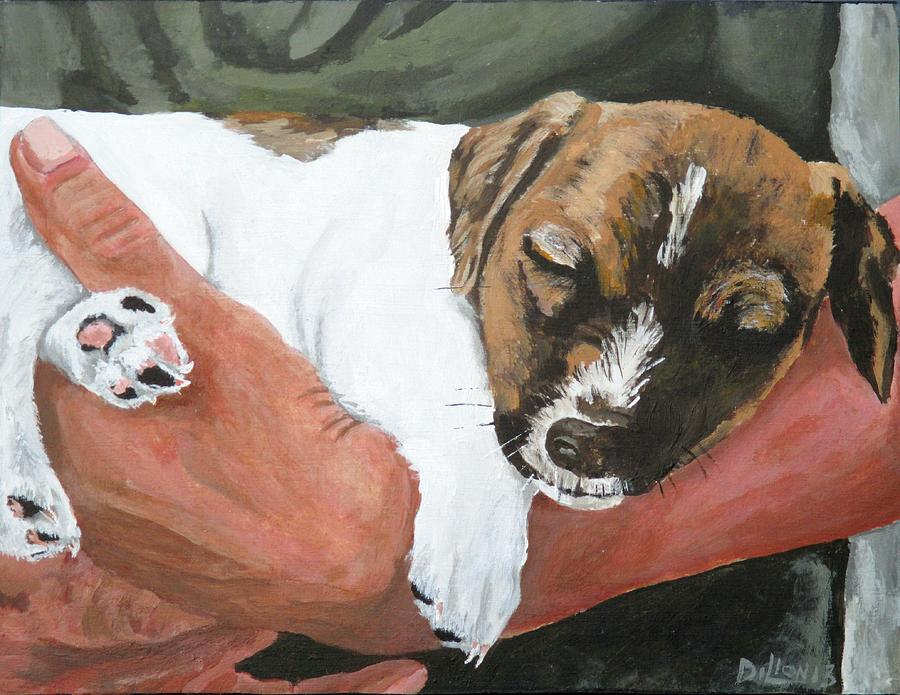 Guard Dog Painting - On Guard by Michael Dillon