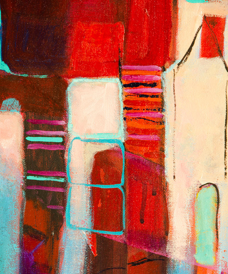 Abstract Painting - On Our Block by Jennifer Croom