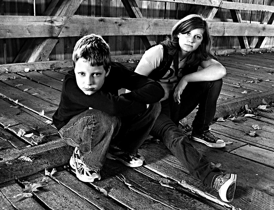 Young Teens Photograph - On Potters Bridge by Julie Dant