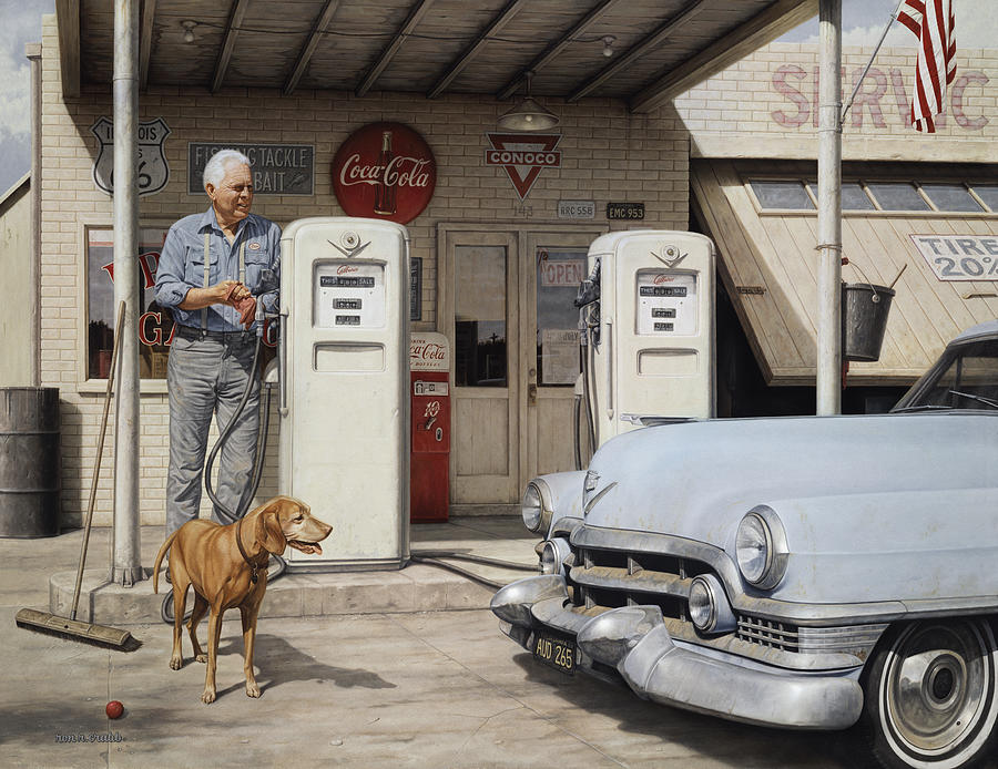 On Route 66 by Ron Crabb