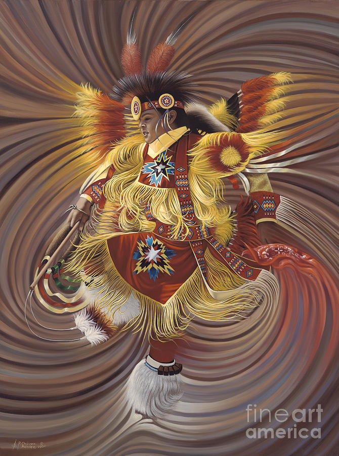 Sacred Painting - On Sacred Ground Series 4 by Ricardo Chavez-Mendez