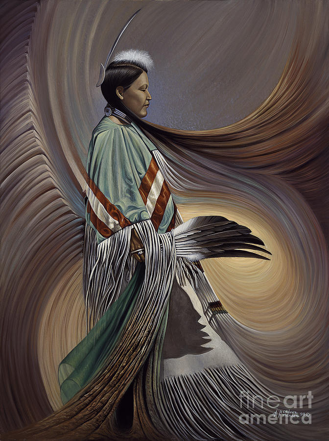 Native-american Painting - On Sacred Ground Series I by Ricardo Chavez-Mendez