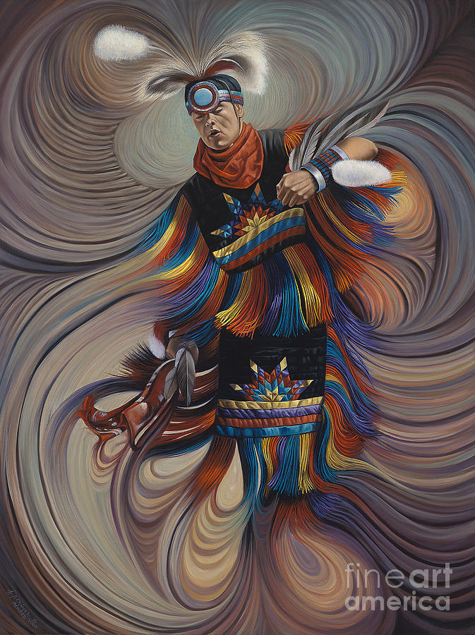 On Sacred Ground Series II Painting by Ricardo Chavez-Mendez