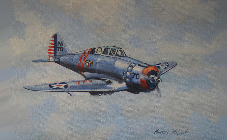 Seversky Aircraft Painting - On Silver Wings by Murray McLeod