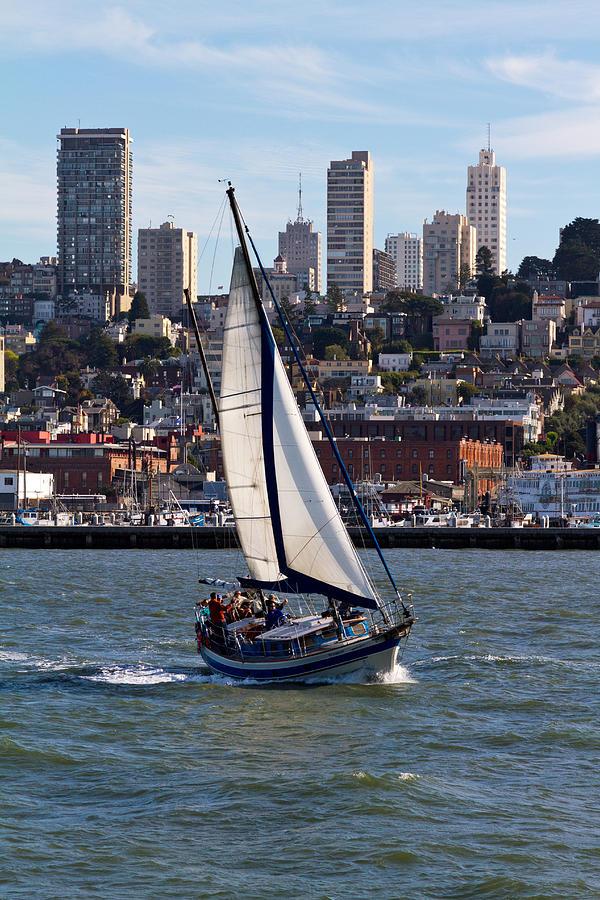 Sailboat Photograph - On The Bay by Bernard  Barcos