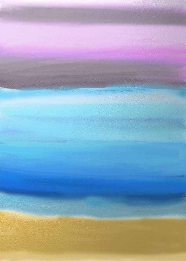 Abstract Painting - On the Beach by Eliza Donovan