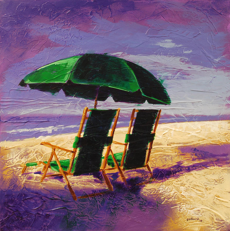 Beach Painting - On the Beach by Glenn Pollard