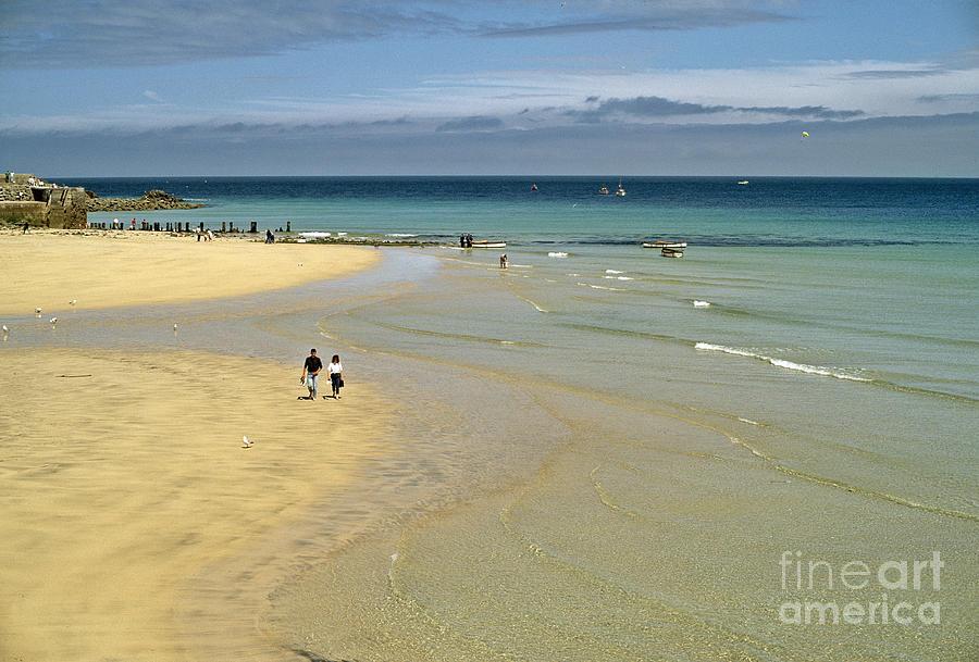 Beach Photograph - On The Beach St Ives by David Davies