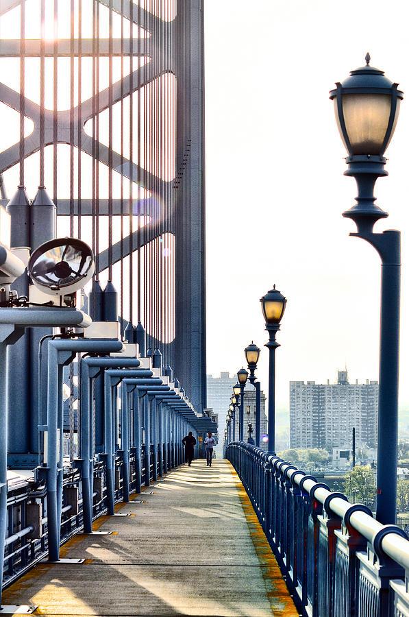 Ben Photograph - On The Ben Franklin Bridge by Bill Cannon