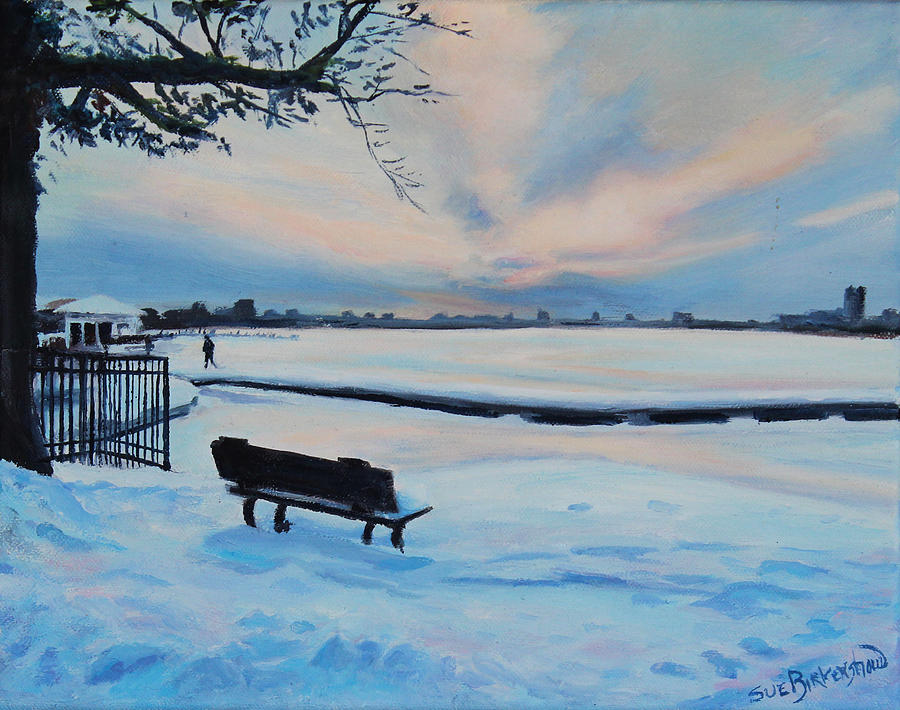 Charles River Painting - On The Charles by Sue Birkenshaw