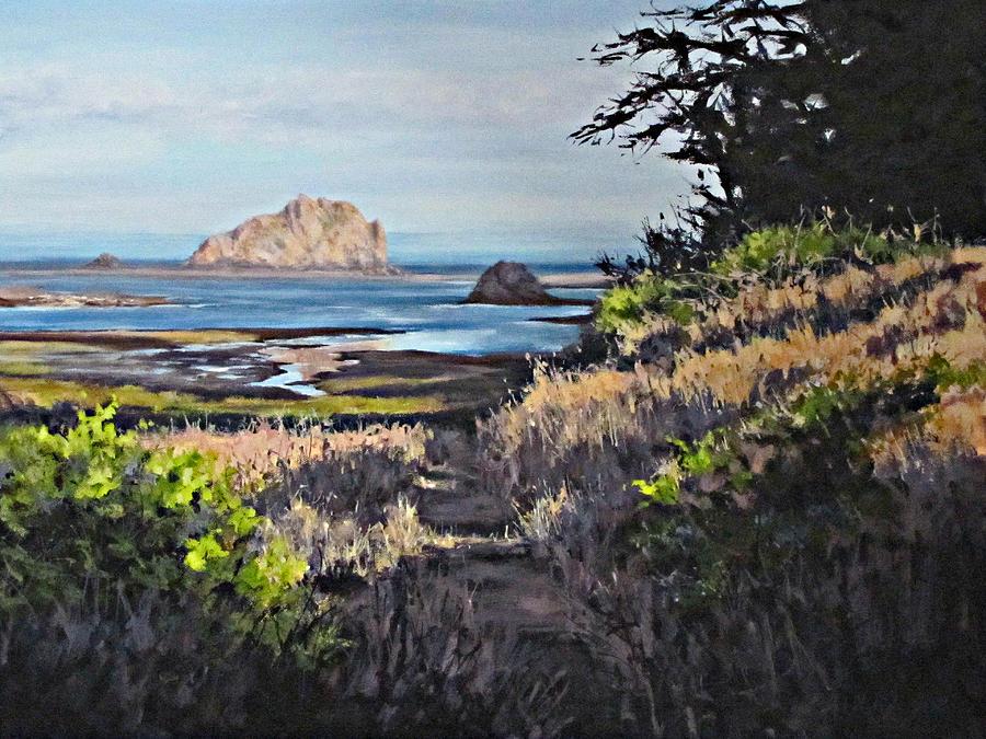 Landscape Painting - On the Coast by Karen Ilari