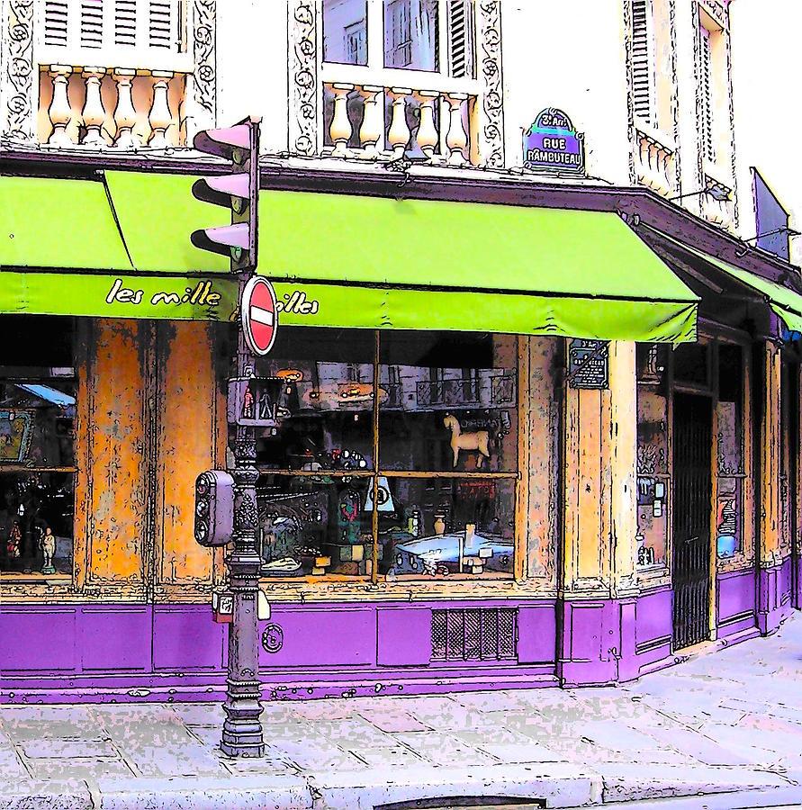 On the corner of rue rambuteau photograph by jan matson - Rue rambuteau paris ...