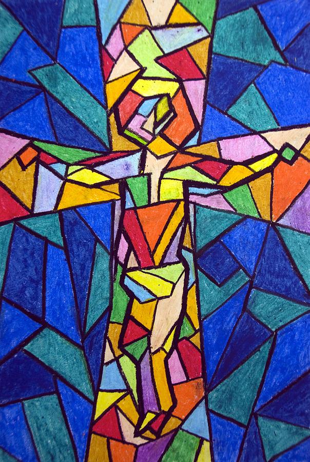 Cross Painting - On The Cross by Matthew Doronila