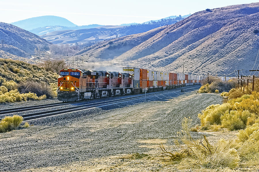Bnsf Photograph - On The Downside by Jim Thompson