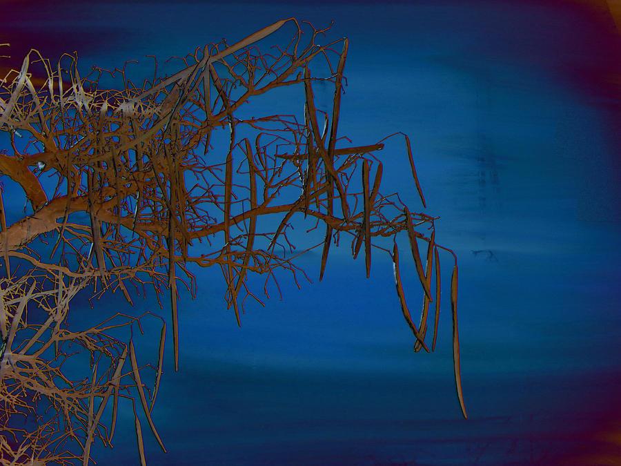 Minimal Mixed Media - On The Edge Of Sky by Lenore Senior