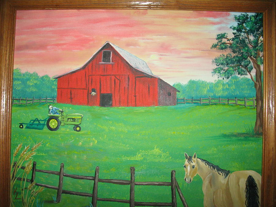 Landscape Painting - On The Farm by Kathy Livermore
