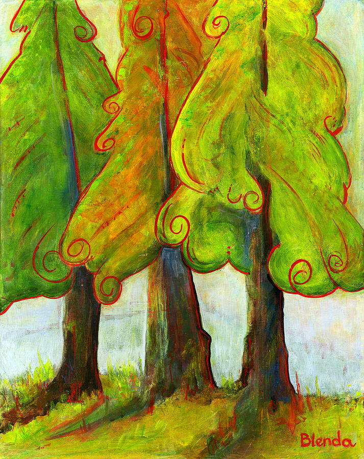 Artworks Painting - On The Forests Edge by Blenda Studio