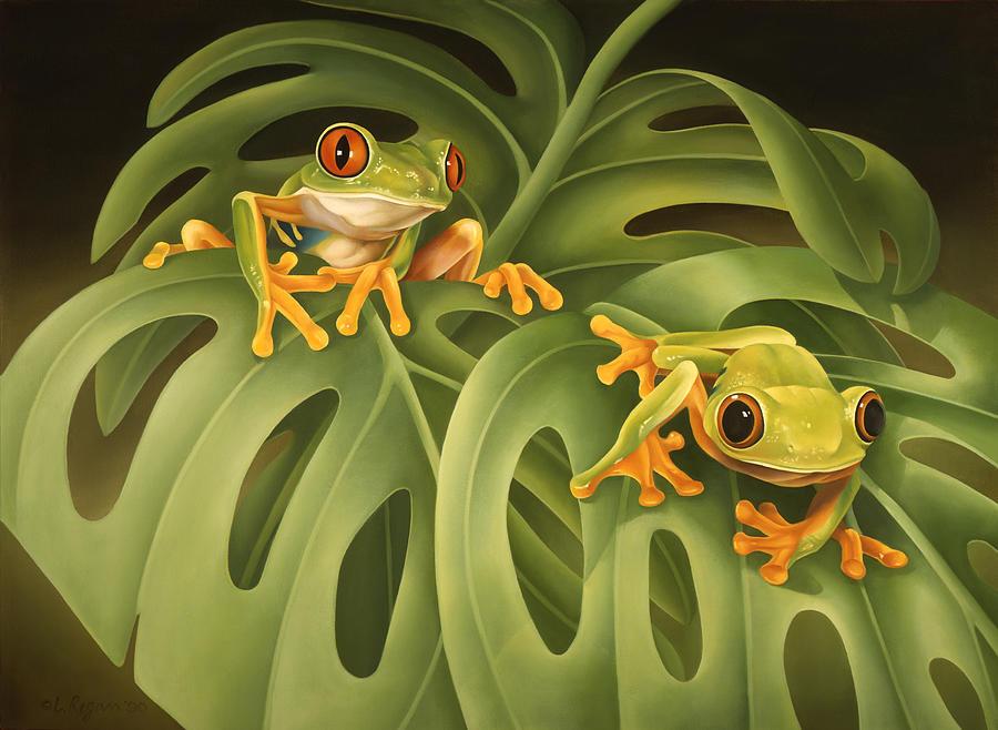 Rainforest Frog Paintings | Fine Art America