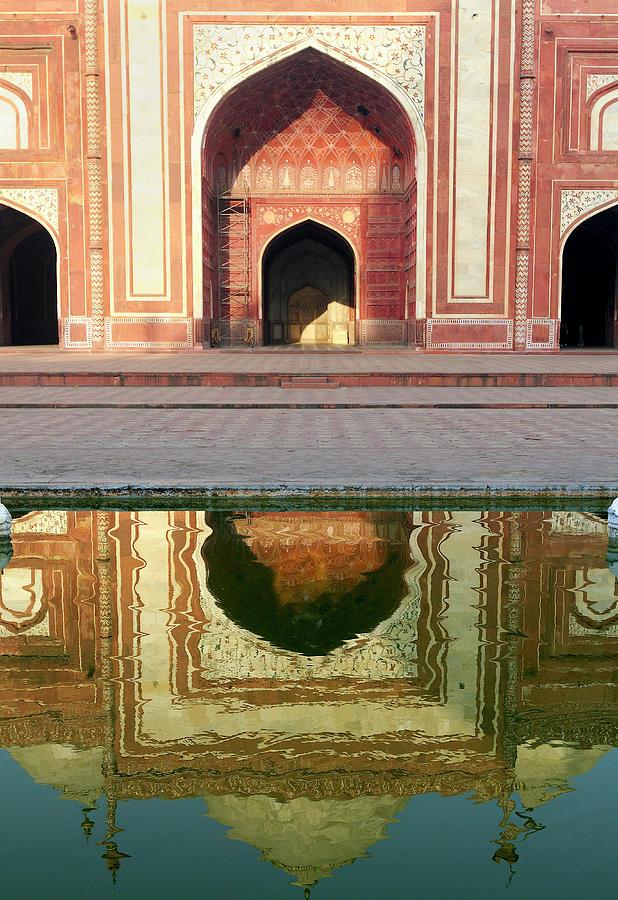 Agra Photograph - On The Grounds Of The Taj Mahal by Steve Roxbury