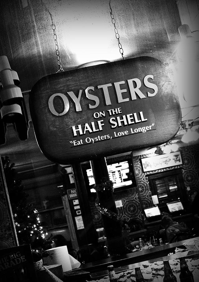 Black White Photograph - On The Half Shell by Scott Pellegrin