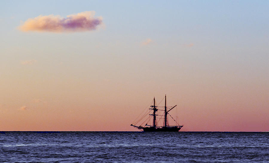 Sailing Boat Photograph - On The Horizon by Debbie Cundy
