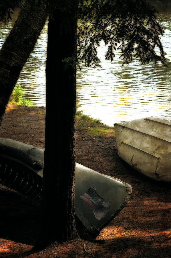 Canoe Photograph - On The Island by Michelle Calkins