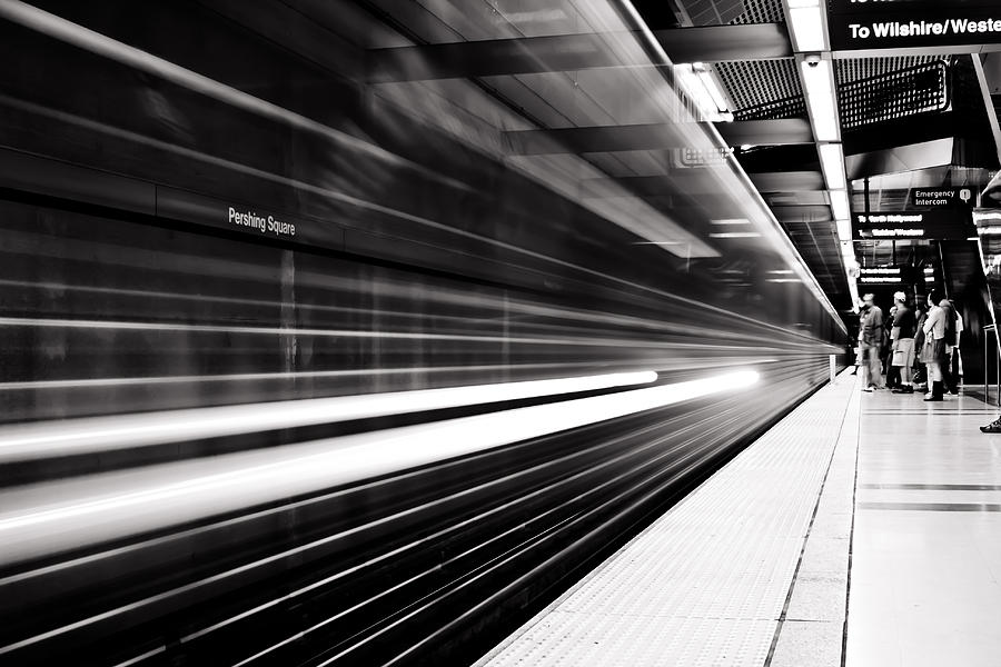 Train Photograph - On The Move by Andrew Raby