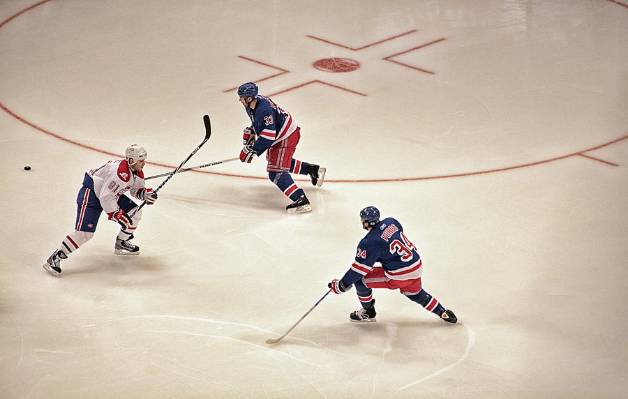 Hockey Photograph - On The Offense by Karol Livote