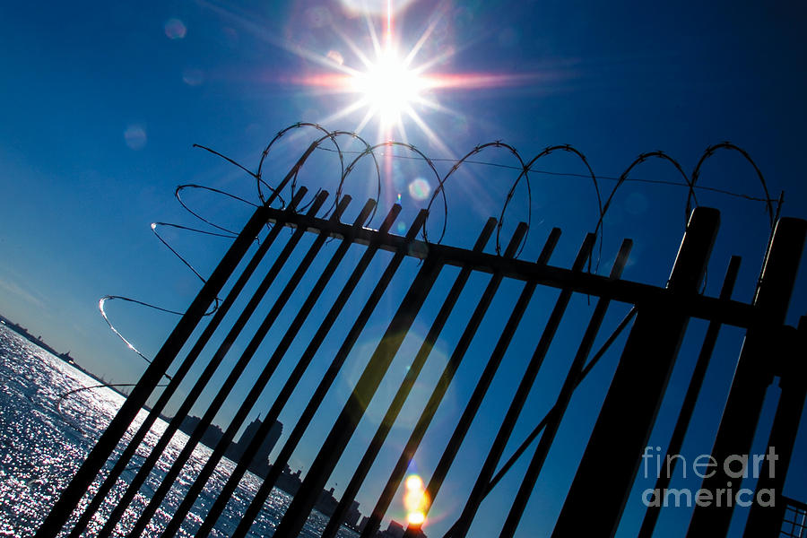 Barbwire Photograph - On The Other Side by Kim Lessel