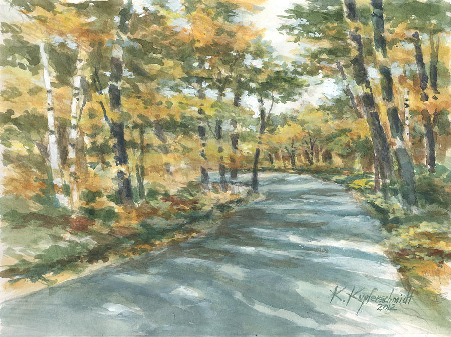 Landscape Painting - On The Road Home by Kerry Kupferschmidt