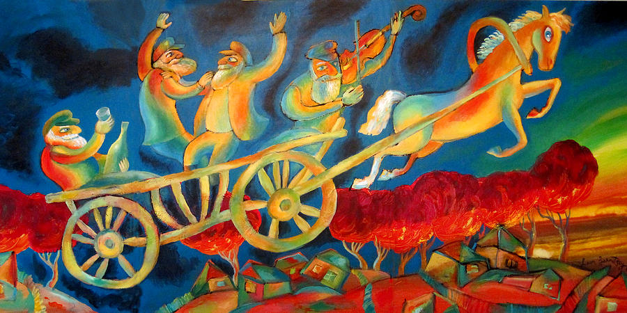 Jewish Painting - On The Road To Rebbe by Leon Zernitsky