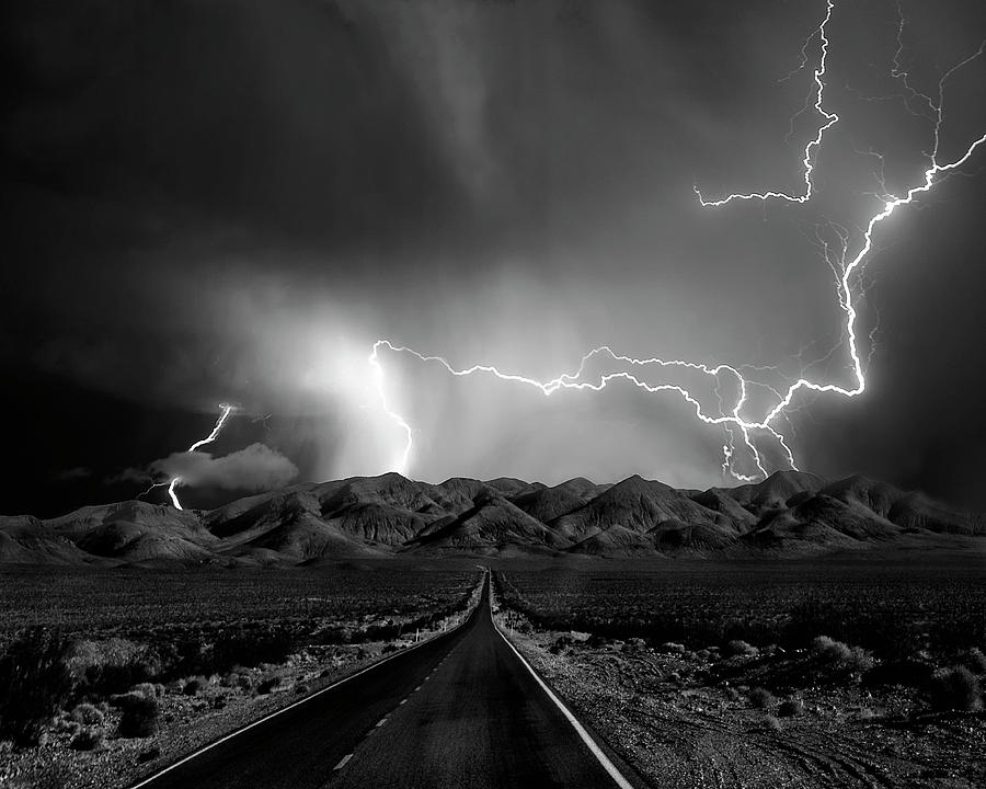 Road Photograph - On The Road With The Thunder Gods by Yvette Depaepe