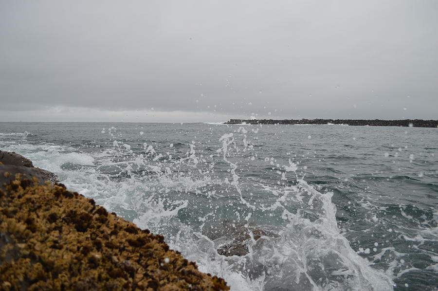Splash Photograph - On The Rocks by Sheldon Blackwell