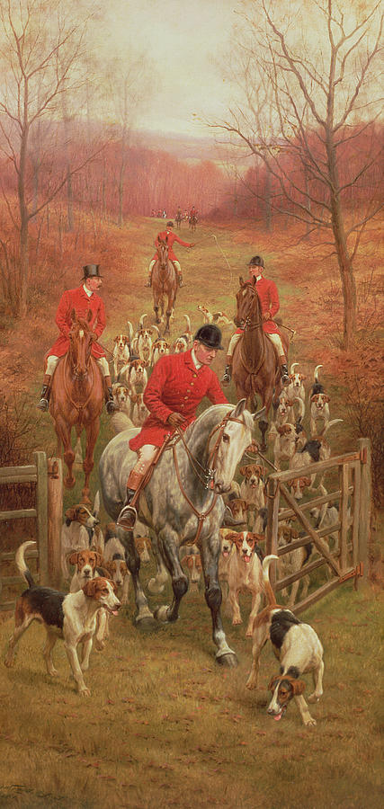 Foxhunting Painting - On The Scent, 1906 by Edward Algernon Stuart Douglas