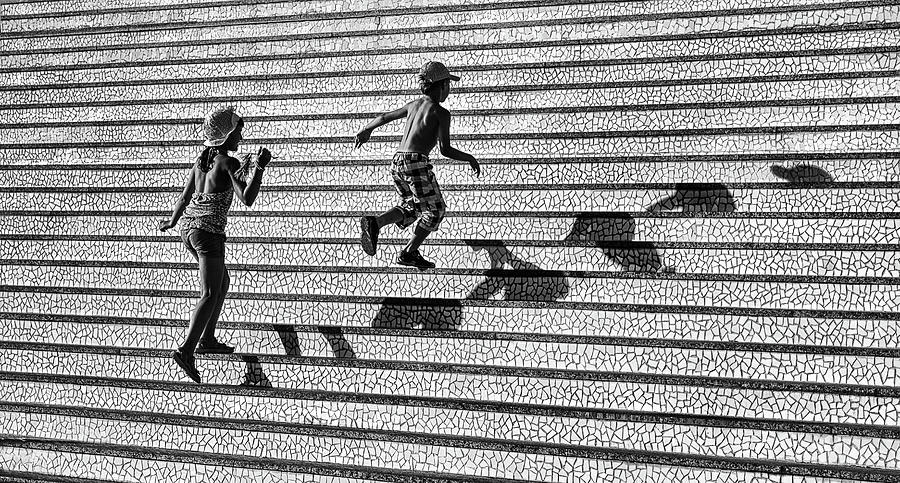 Stairs Photograph - On The Stairs . by Juan Luis Duran