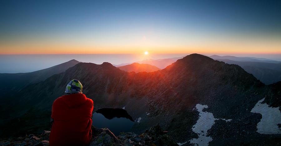 Mountain Photograph - On The Top  by Svetoslav Sokolov