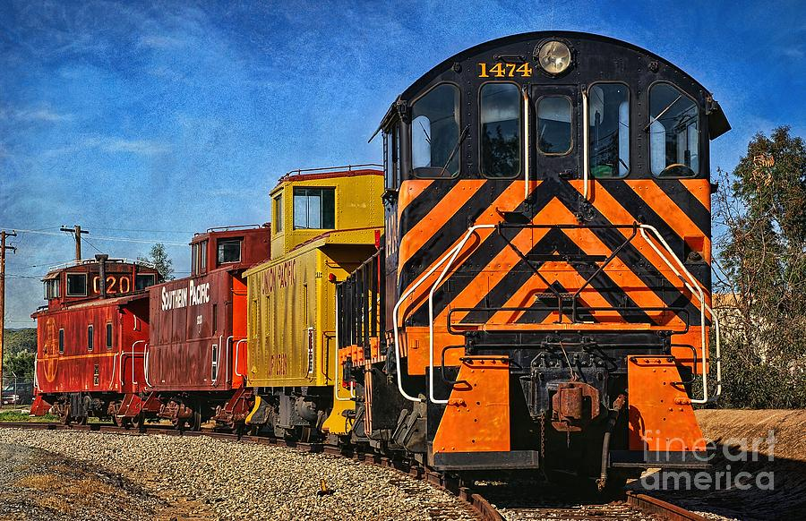 Train Photograph - On The Tracks by Peggy Hughes
