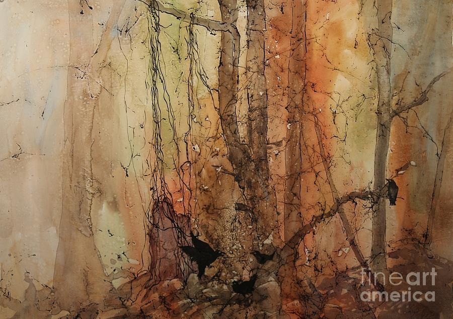 Forest Painting - On The Verge by Elizabeth Carr