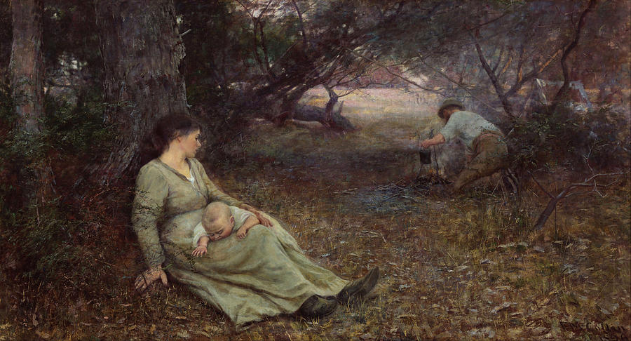 Frederick Mccubbin Painting - On the wallaby track by Frederick McCubbin